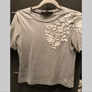 Anthropology Flower T-shirt